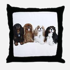4Cavaliers Throw Pillow