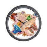 Butterfly Fantasy Designs Wall Clock