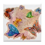 Butterfly Fantasy Designs Tile Coaster