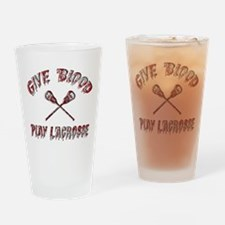Give Blood Play Lacrosse Drinking Glass