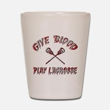 Give Blood Play Lacrosse Shot Glass