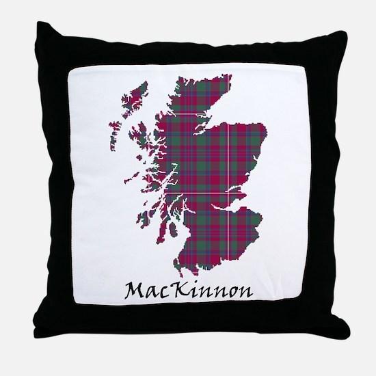 Map-MacKinnon Throw Pillow