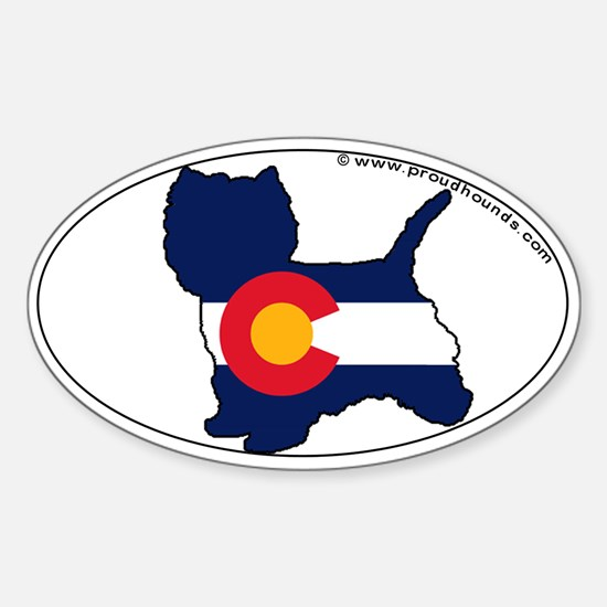 West Highland Terrier Colorado State Flag Decal
