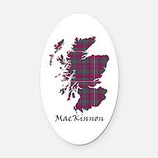 Map-MacKinnon Oval Car Magnet