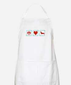 Peace, Love and Dachshunds Apron