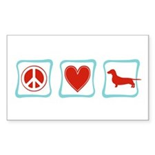 Peace, Love and Dachshunds Decal