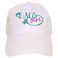 Race Girl Baseball Baseball Cap