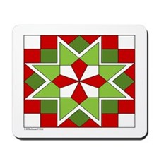 Plaid Star Mousepad