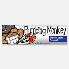 Plumbing Monkey Bumper Bumper Bumper Sticker