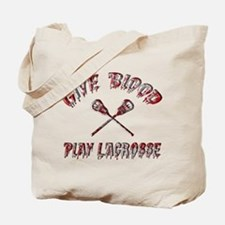 Give Blood Play Lacrosse Tote Bag