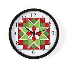Plaid Star Wall Clock