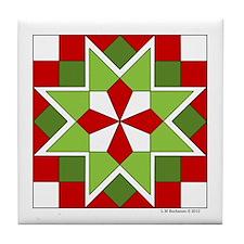 Plaid Star Tile Coaster