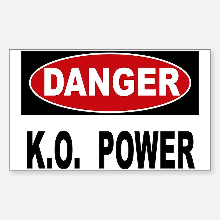 K.O. Power Sticker (Rectangle)