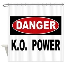 K.O. Power Shower Curtain