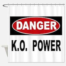 K.O. Power Shower Curtain