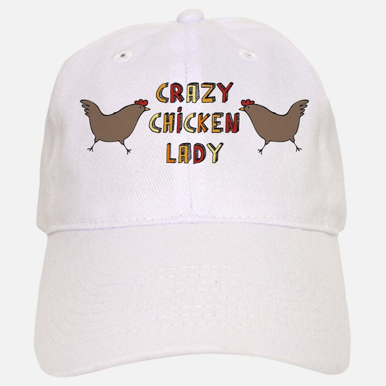 Crazy Chicken Lady Baseball Baseball Cap