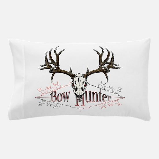 Bow hunting,deer skull Pillow Case
