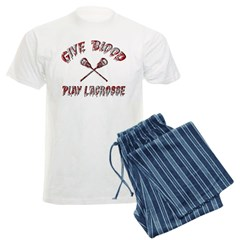 Give Blood Play Lacrosse Pajamas