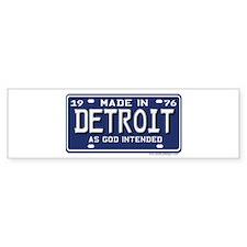 Made in Detroit 1976 License Plate Bumper Sticker