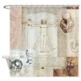 Da vinci vitruvian man Shower Curtains