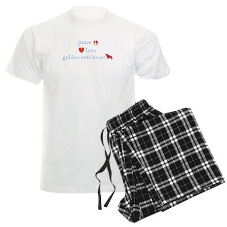 Peace, Love & Golden Retrievers Men's Light Pajama