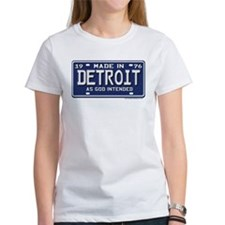 Made in Detroit 1976 License Plate Tee