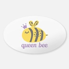 Queen Bee Sticker (Oval)