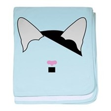 Hitler Cat baby blanket