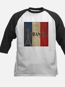 Vintage France Kids Baseball Jersey