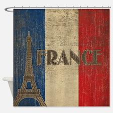 Vintage France Shower Curtain