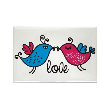 Love Birds Rectangle Magnet