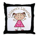 Children's Librarian Gift Throw Pillow