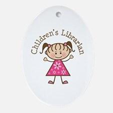 Children's Librarian Gift Ornament (Oval)
