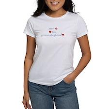 Peace, Love, German Shepherds Tee