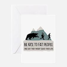 Fat People Greeting Card