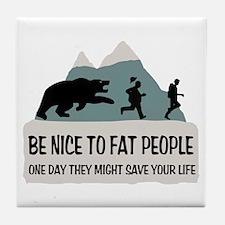 Fat People Tile Coaster