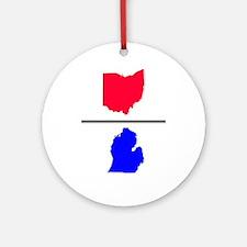 Ohio over Michigan Ornament (Round)