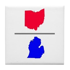 Ohio over Michigan Tile Coaster
