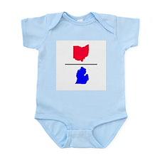 Ohio over Michigan Infant Creeper