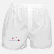 Peace, Love & French Bulldogs Boxer Shorts