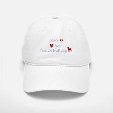 Peace, Love & French Bulldogs Baseball Baseball Cap