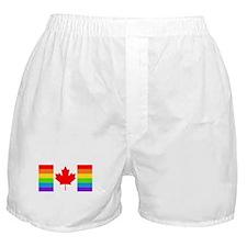Canadian Gay Pride Flag Boxer Shorts