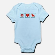 Peace, Love, French Bulldogs Infant Bodysuit