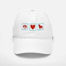 Peace, Love, French Bulldogs Baseball Baseball Cap