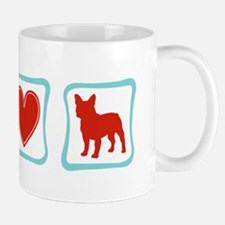 Peace, Love, French Bulldogs Mug