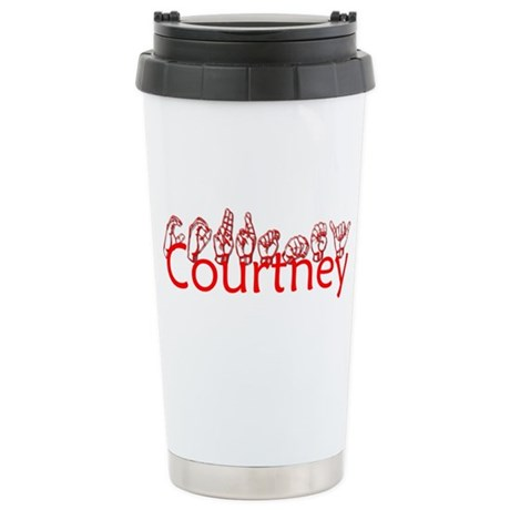 Courtney-red Stainless Steel Travel Mug