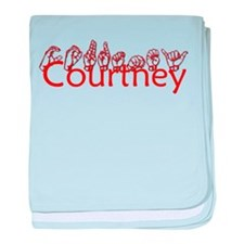 Courtney-red baby blanket
