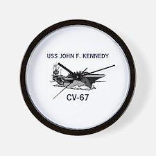 USS KENNEDY Wall Clock