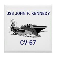 USS KENNEDY Tile Coaster