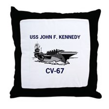USS KENNEDY Throw Pillow